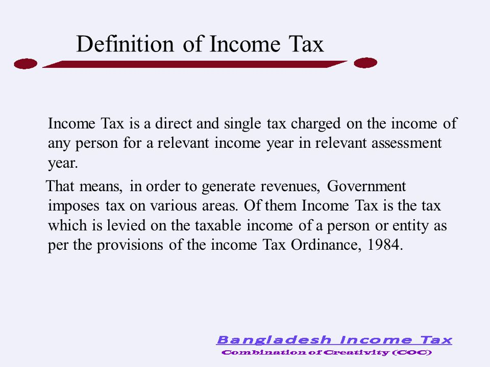 Definition of Income Tax