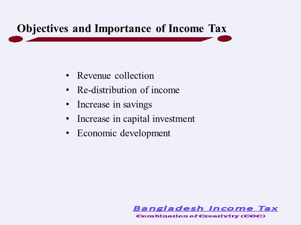 Objectives and Importance of Income Tax
