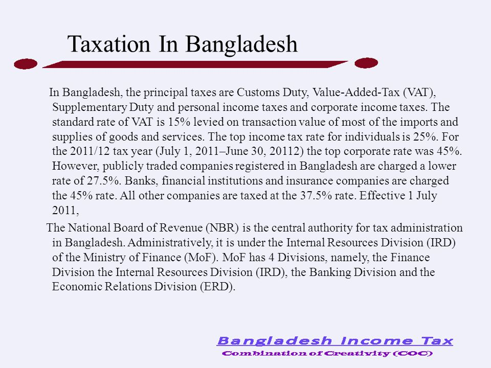 Taxation In Bangladesh
