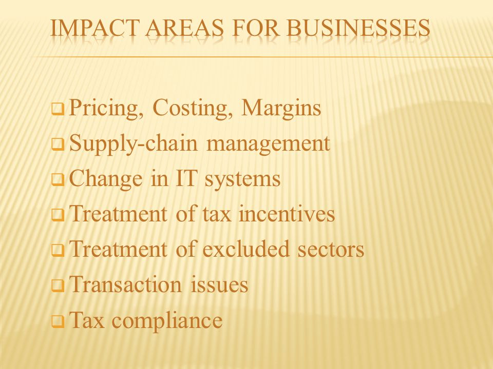 Impact Areas for Businesses
