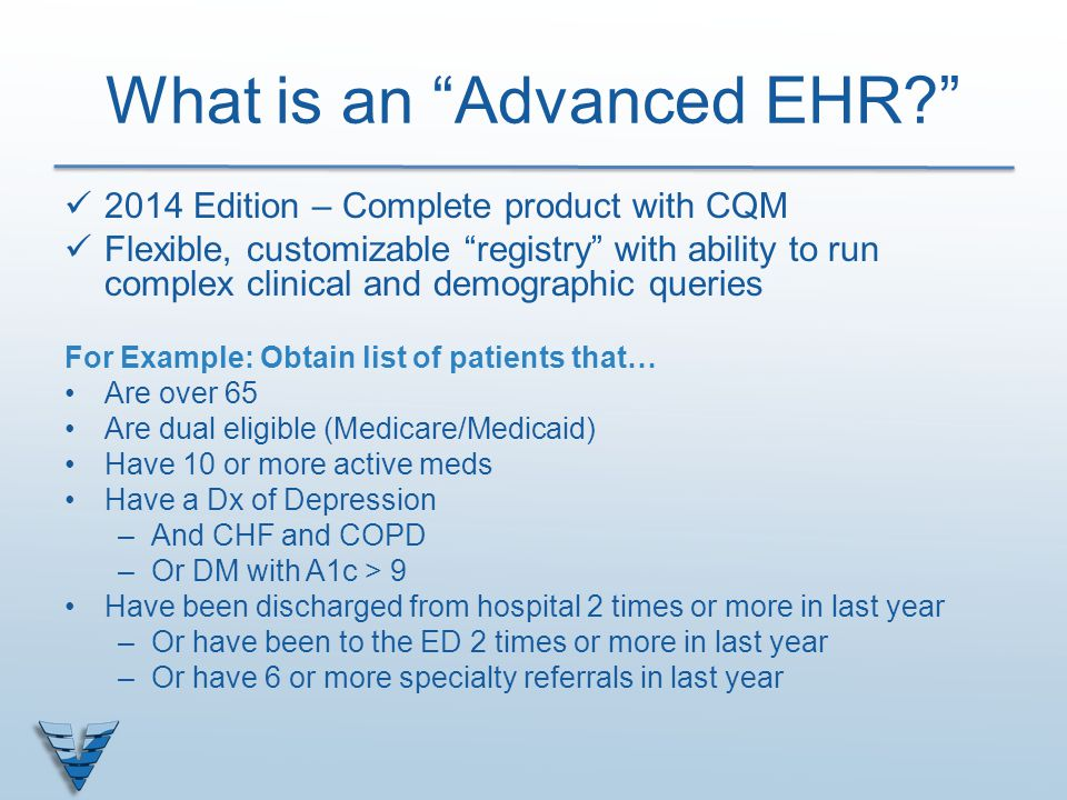 What is an Advanced EHR