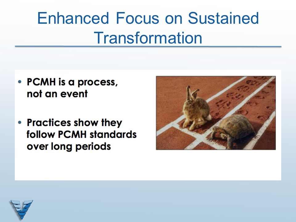 Enhanced Focus on Sustained Transformation