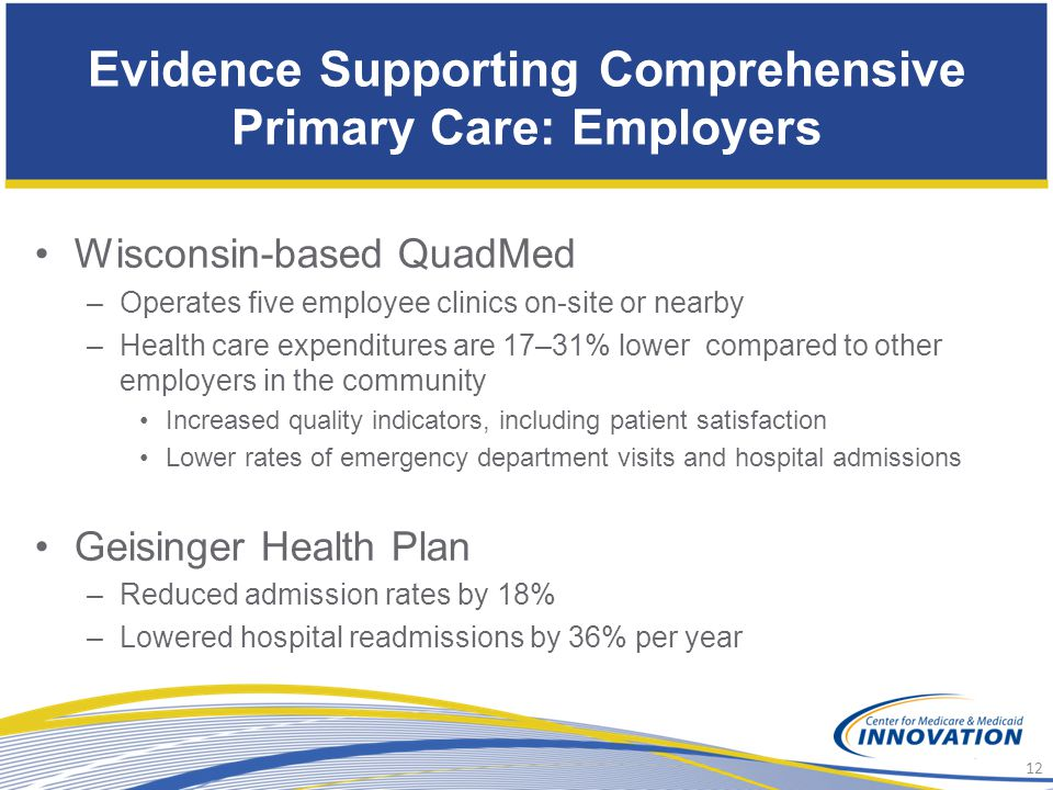 Evidence Supporting Comprehensive Primary Care: Employers