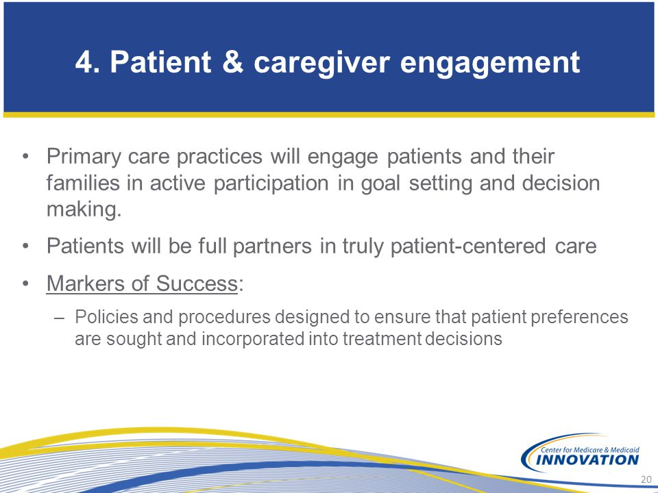 4. Patient & caregiver engagement