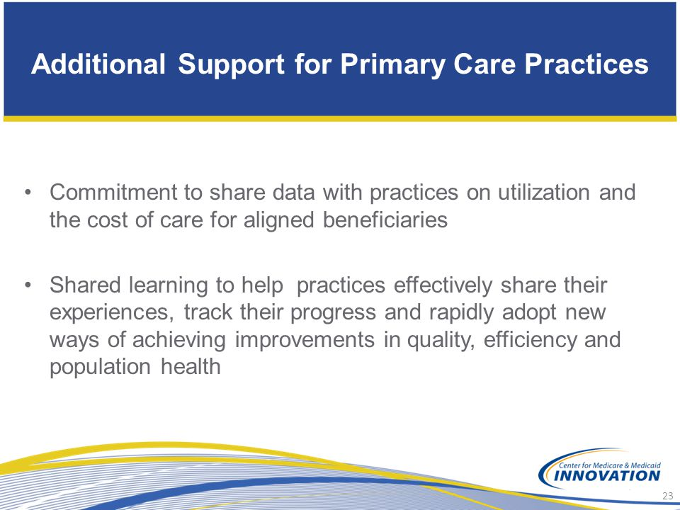 Additional Support for Primary Care Practices