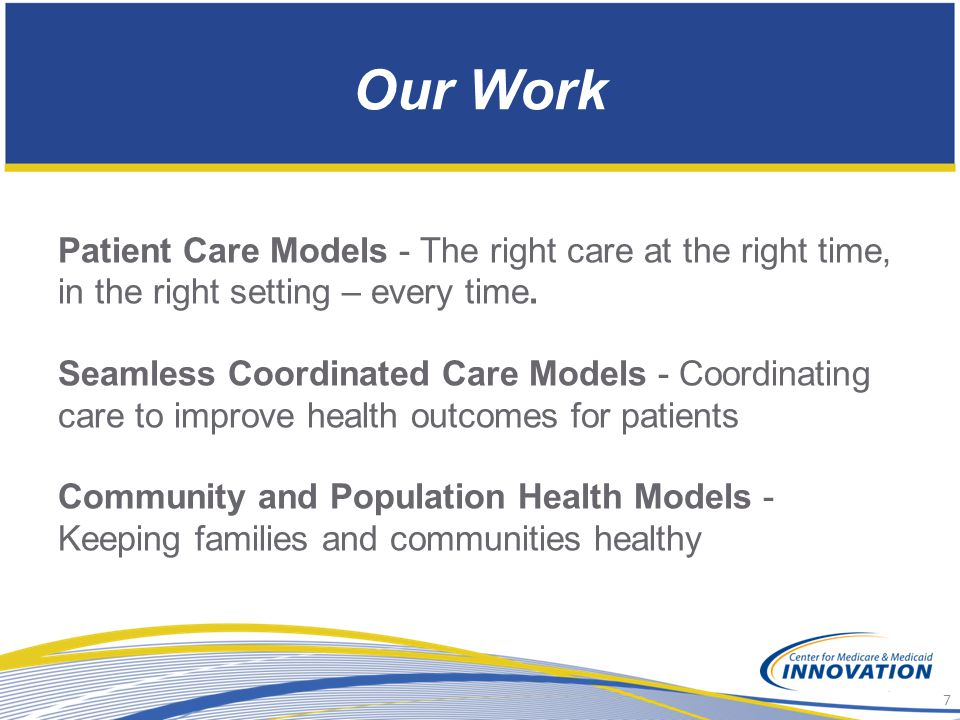 Our Work Patient Care Models - The right care at the right time, in the right setting – every time.