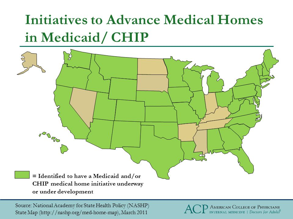 Initiatives to Advance Medical Homes in Medicaid/ CHIP