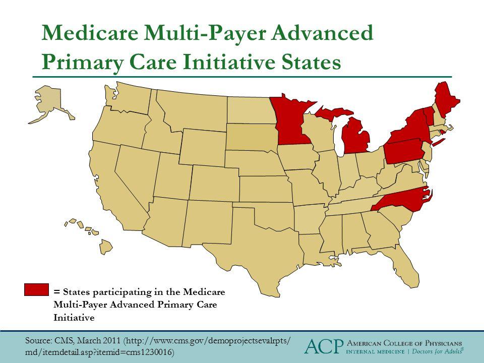Medicare Multi-Payer Advanced Primary Care Initiative States