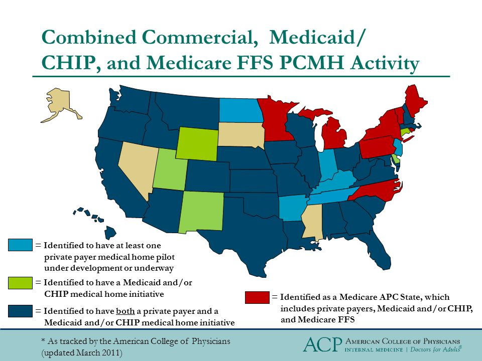 Combined Commercial, Medicaid/ CHIP, and Medicare FFS PCMH Activity