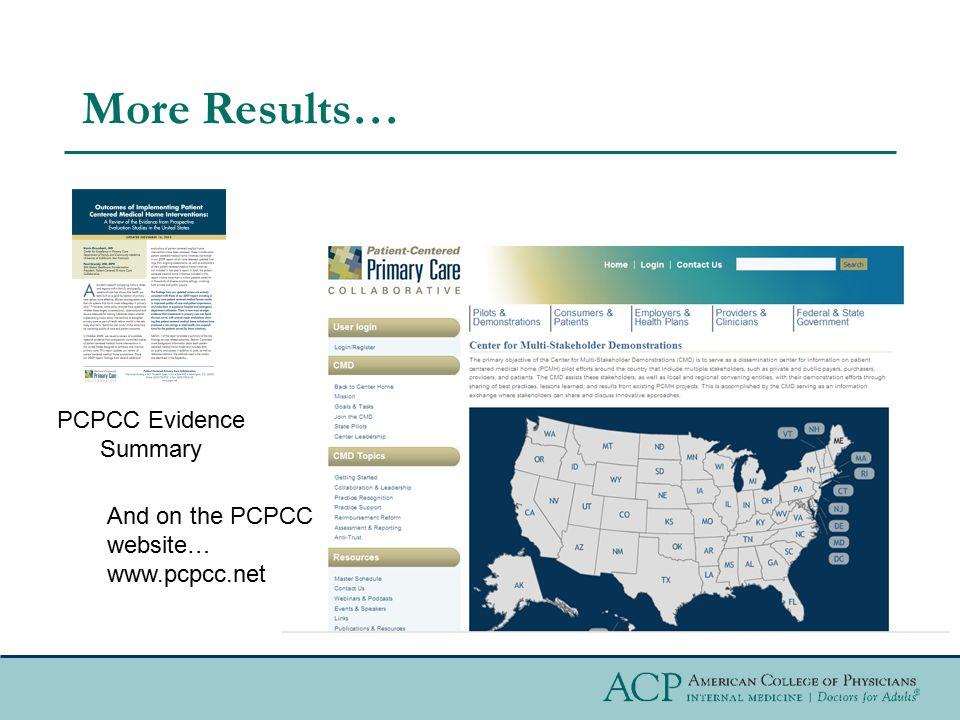 PCPCC Evidence Summary