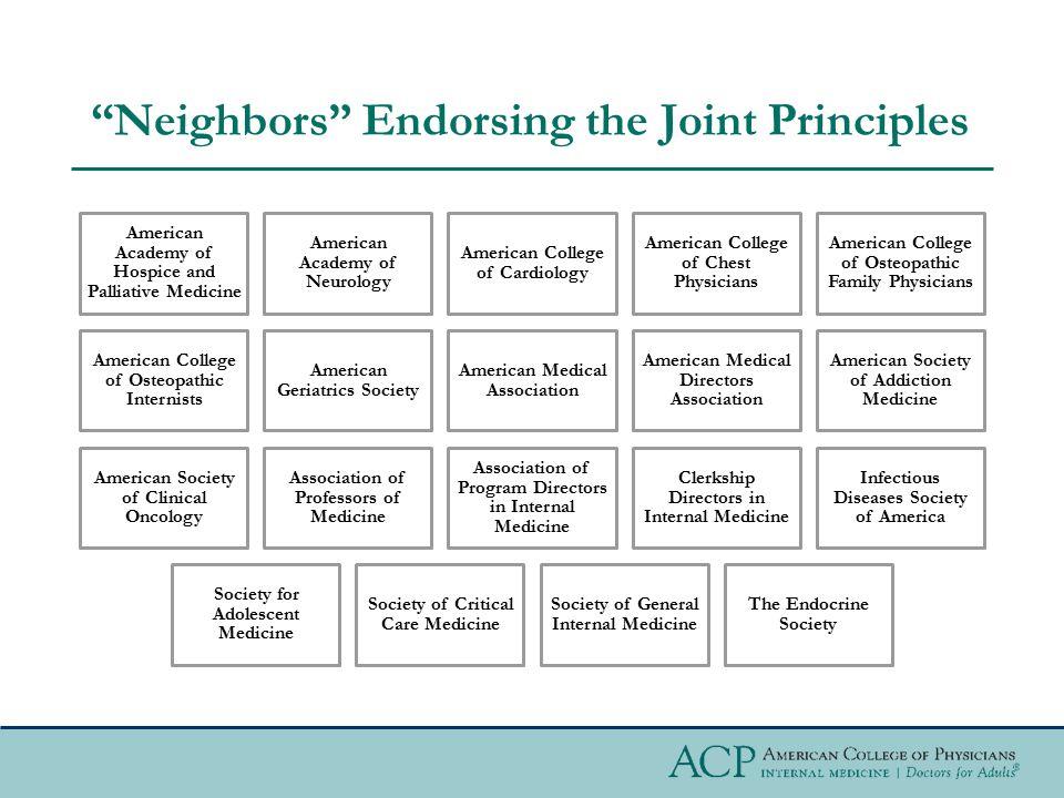 Neighbors Endorsing the Joint Principles