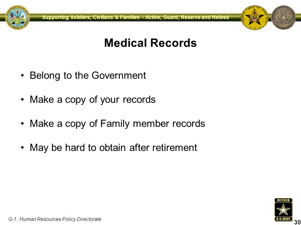 Medical Records Belong to the Government Make a copy of your records