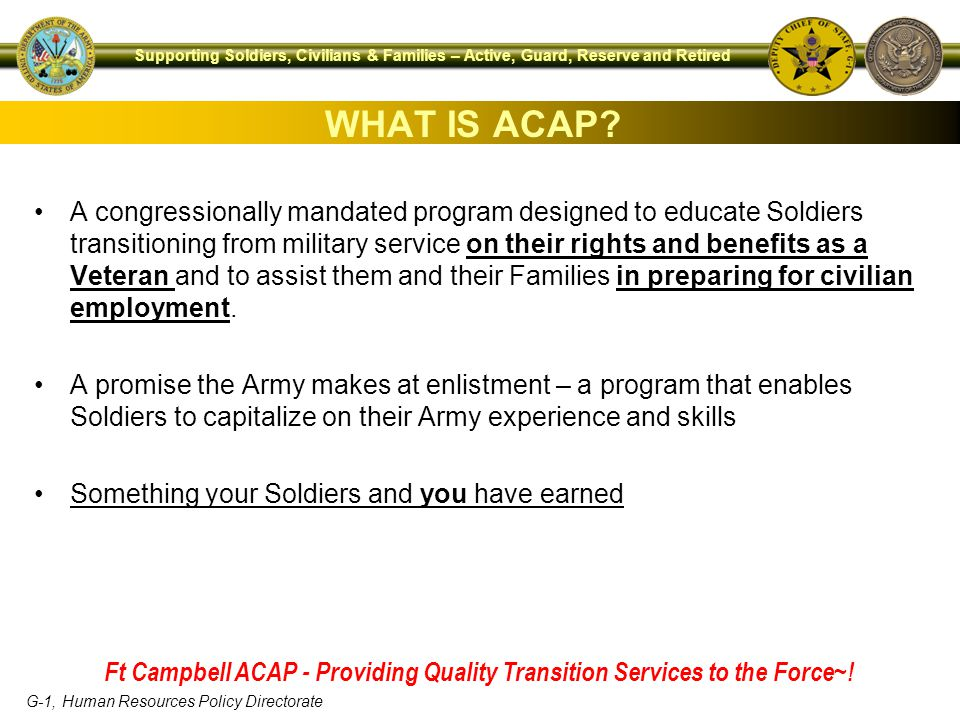 WHAT IS ACAP