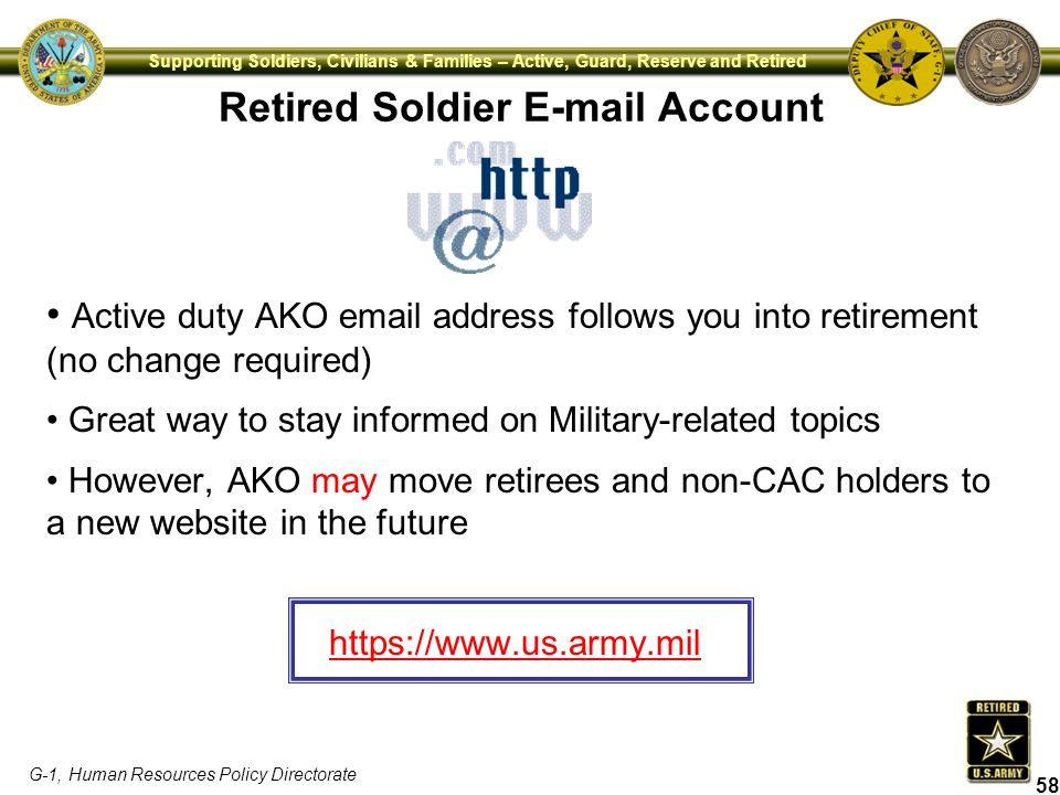 Retired Soldier E-mail Account