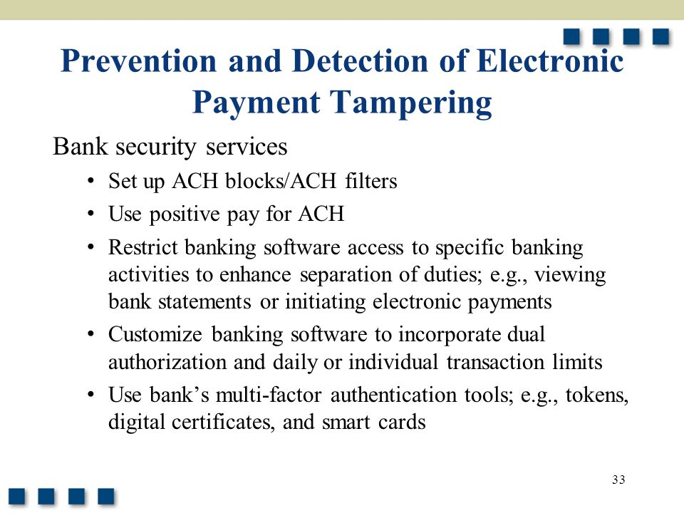 Prevention and Detection of Electronic Payment Tampering