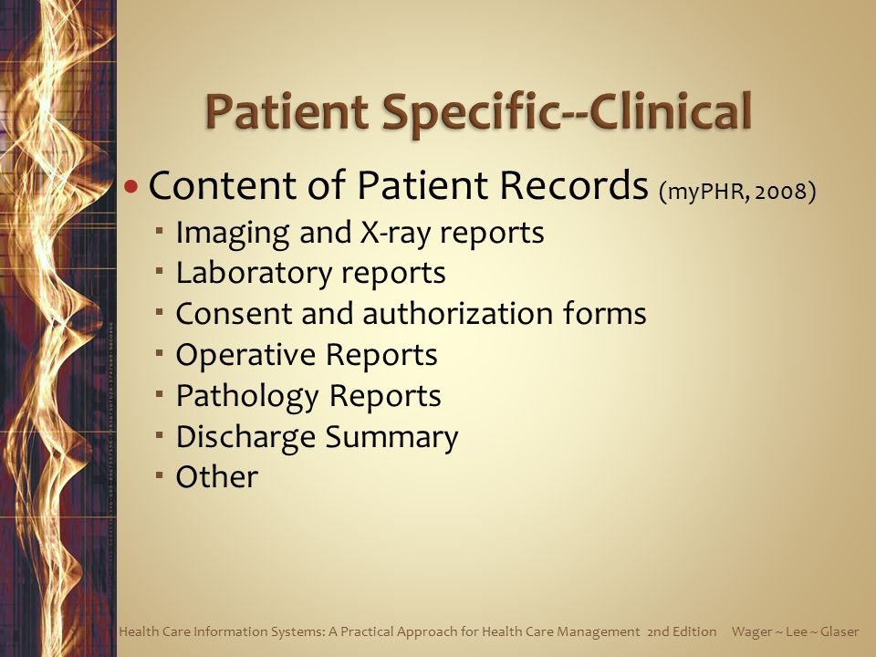 Patient Specific--Clinical