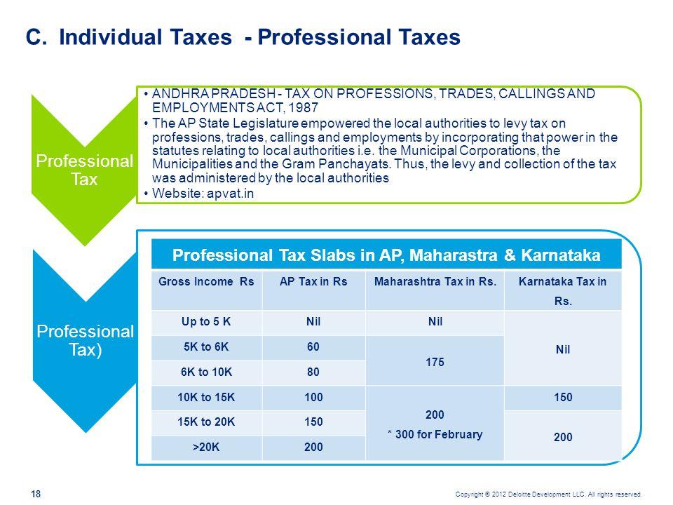 Individual Taxes - Professional Taxes