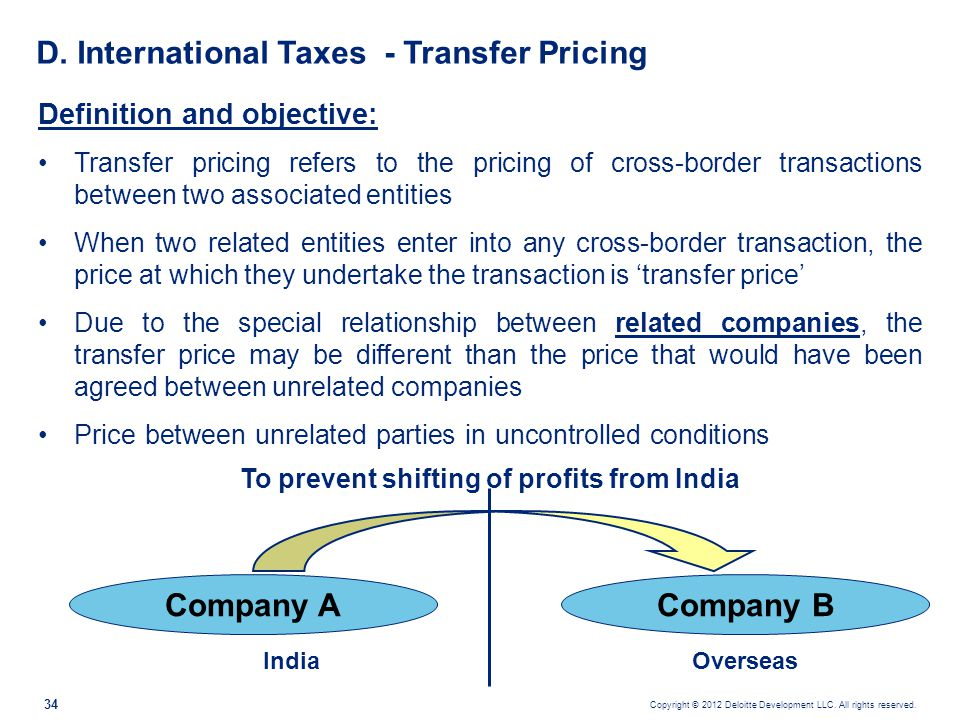D. International Taxes - Transfer Pricing