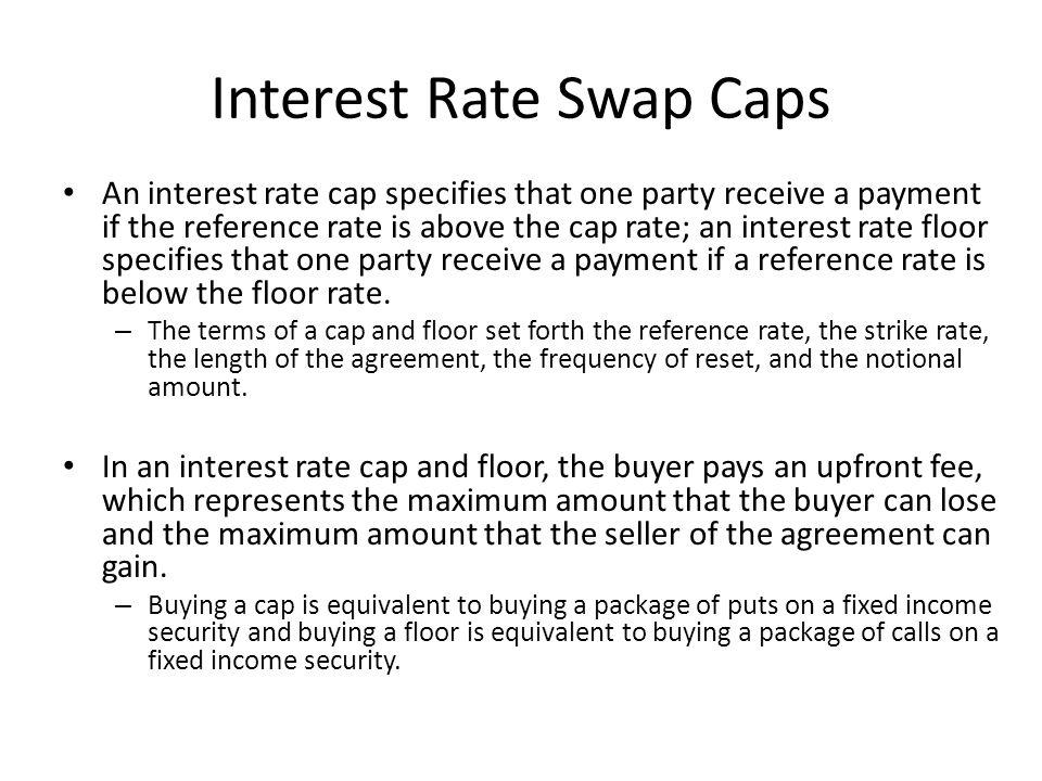 Interest Rate Swap Caps