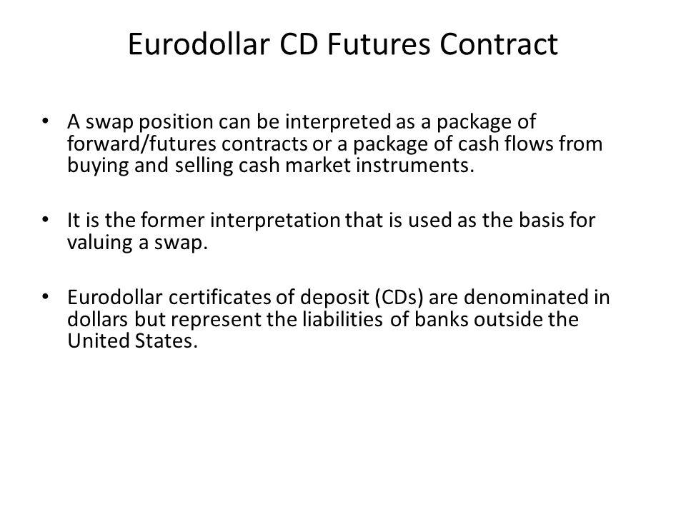 Eurodollar CD Futures Contract