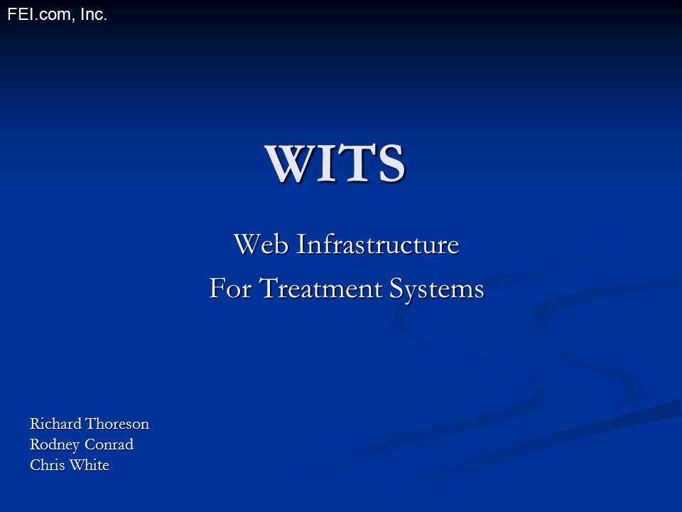 Web Infrastructure For Treatment Systems
