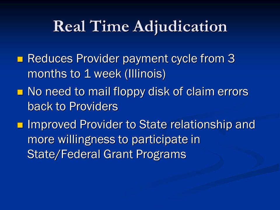 Real Time Adjudication