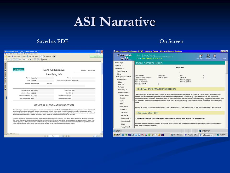 ASI Narrative Saved as PDF On Screen