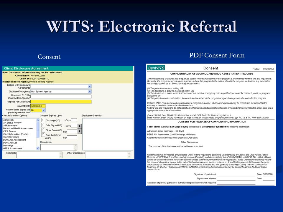 WITS: Electronic Referral