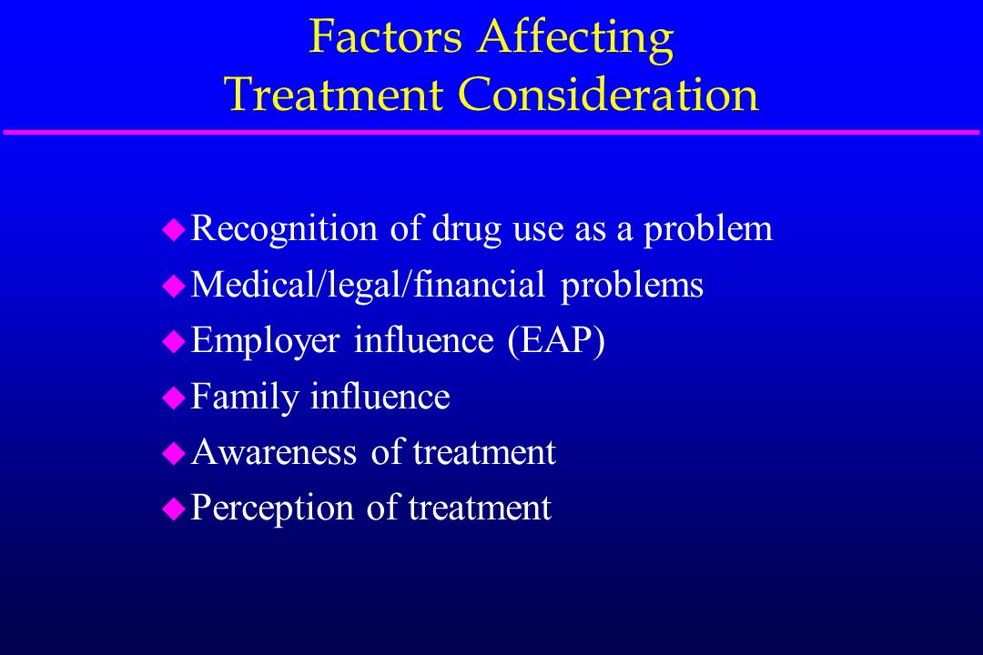 Factors Affecting Treatment Participation