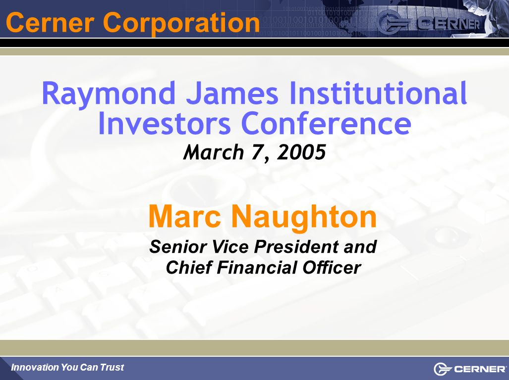 Raymond James Institutional Investors Conference