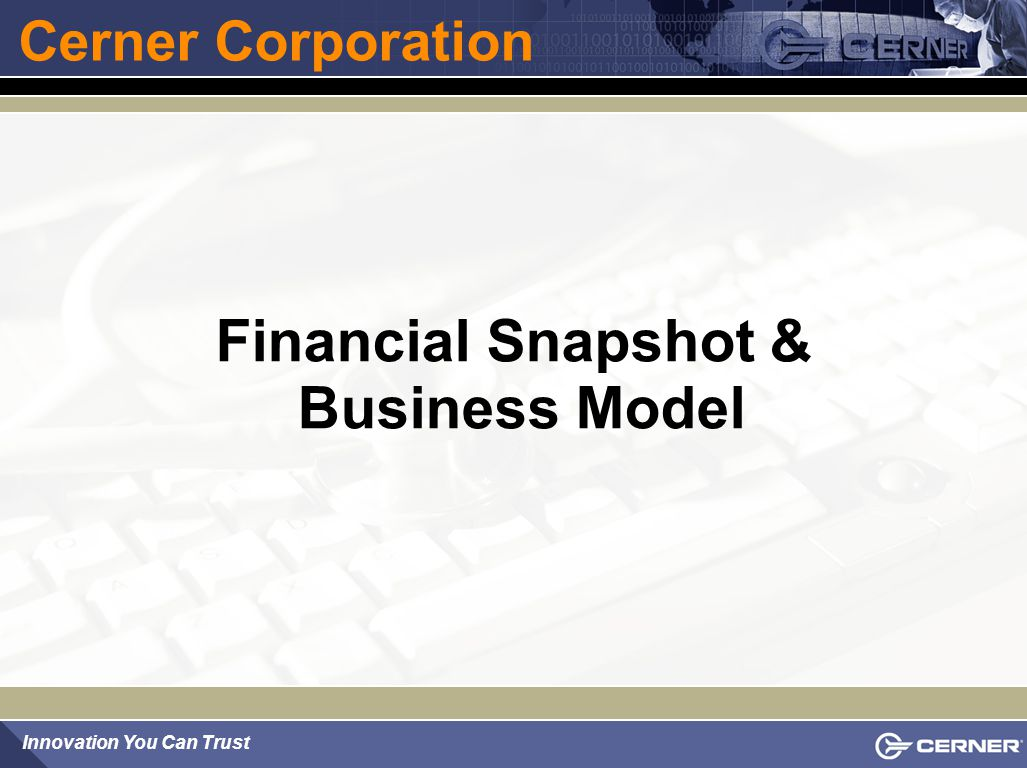 Financial Snapshot & Business Model