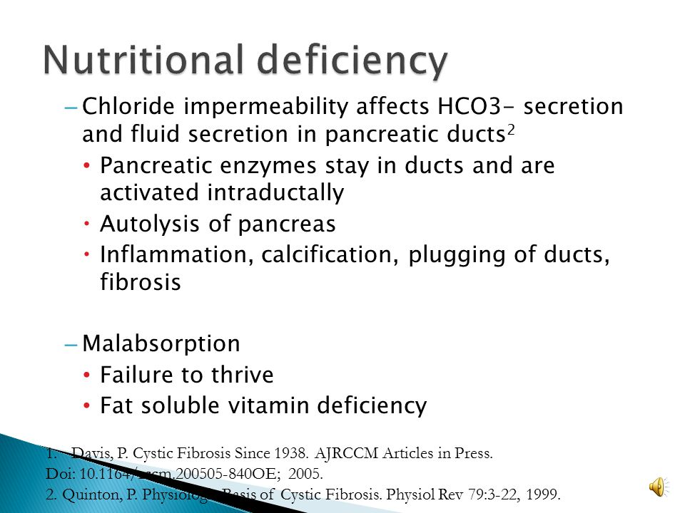 Nutritional deficiency