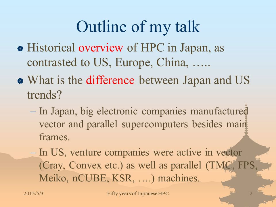 Fifty years of Japanese HPC