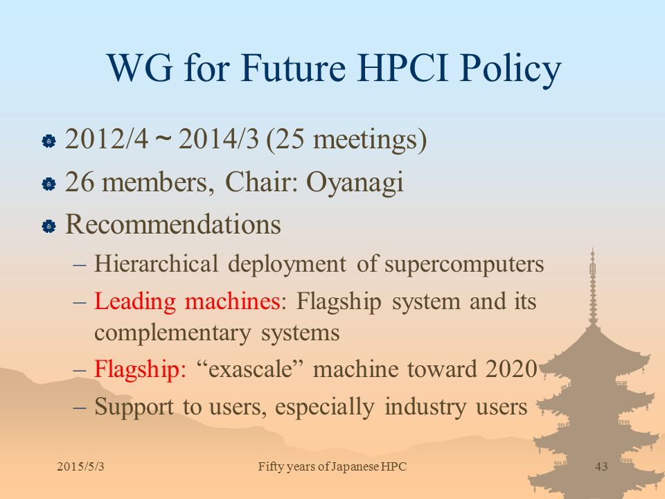 WG for Future HPCI Policy