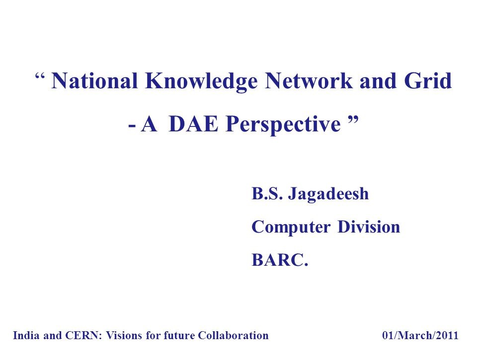National Knowledge Network and Grid