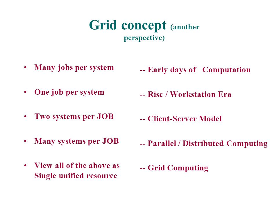 Grid concept (another perspective)