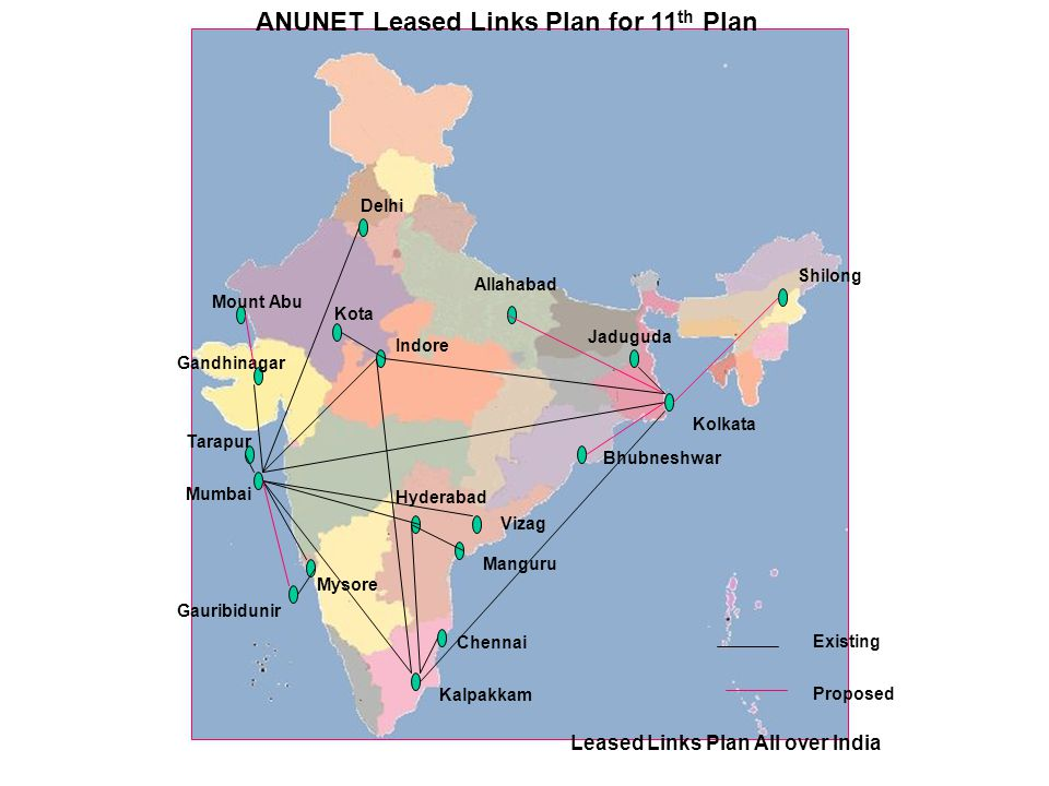 ANUNET Leased Links Plan for 11th Plan