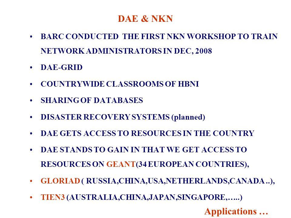 DAE & NKN Applications …