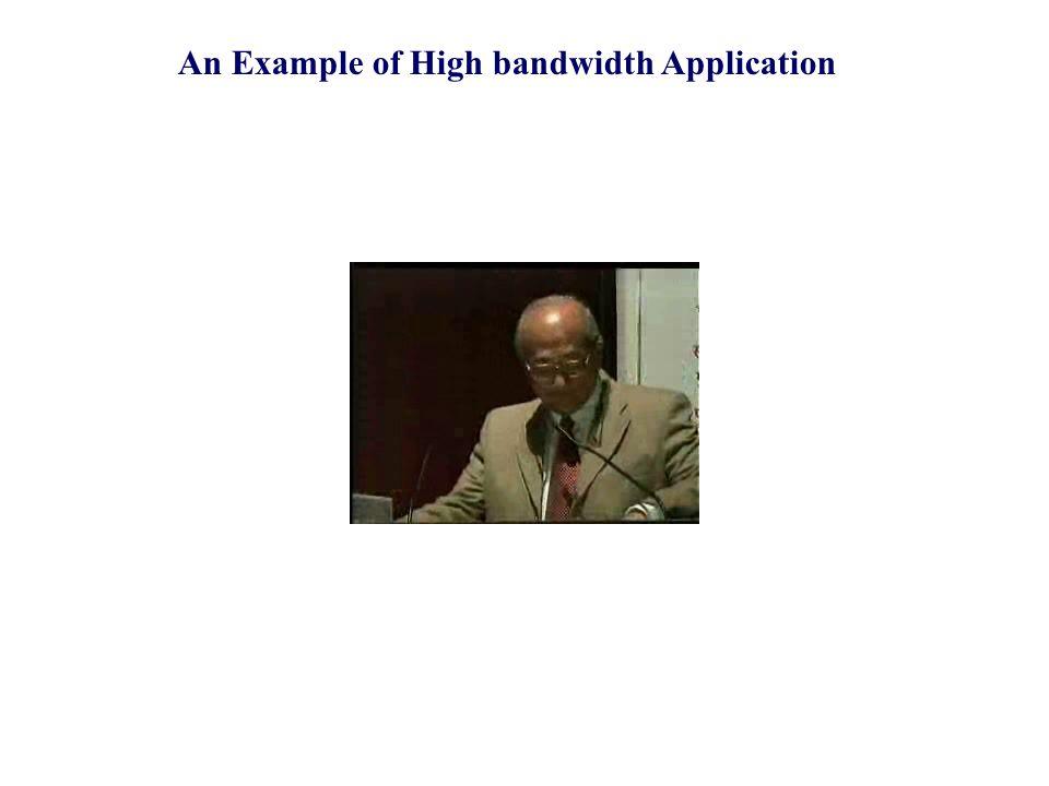 An Example of High bandwidth Application
