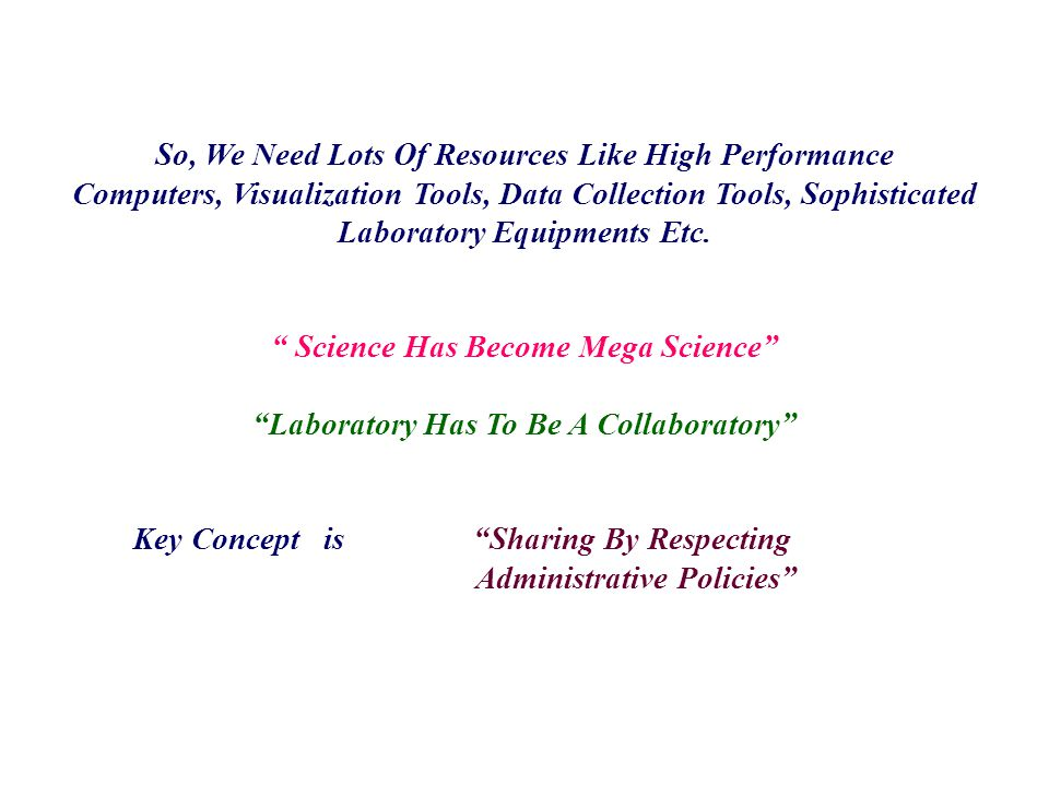 So, We Need Lots Of Resources Like High Performance