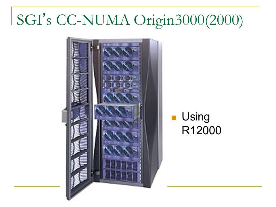SGI's CC-NUMA Origin3000(2000)