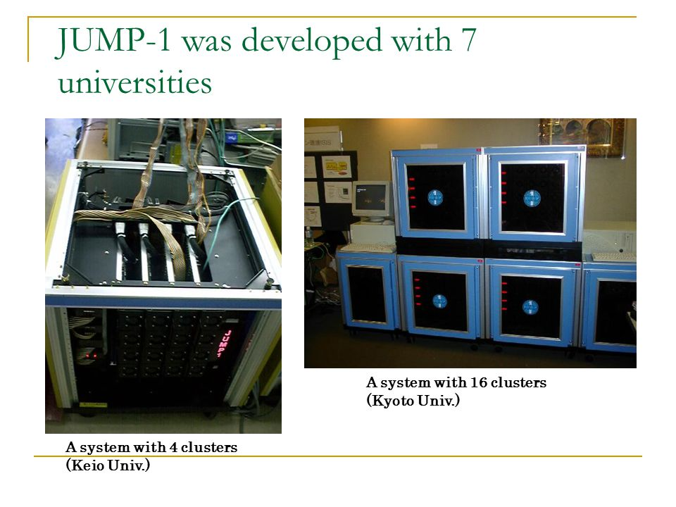 JUMP-1 was developed with 7 universities