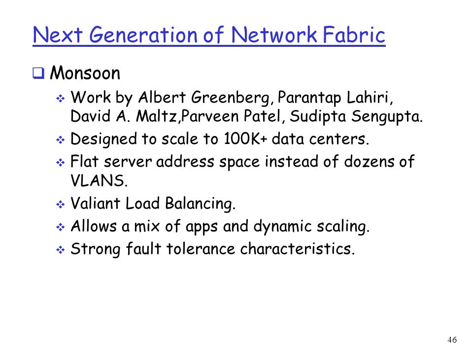 Next Generation of Network Fabric