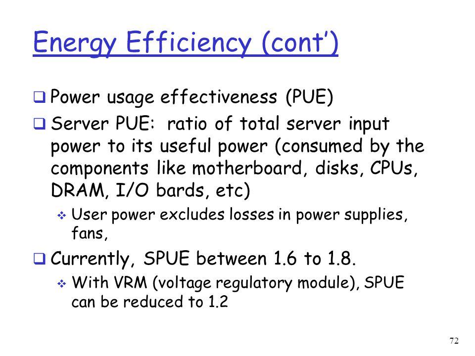 Energy Efficiency (cont')