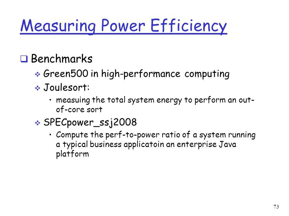 Measuring Power Efficiency