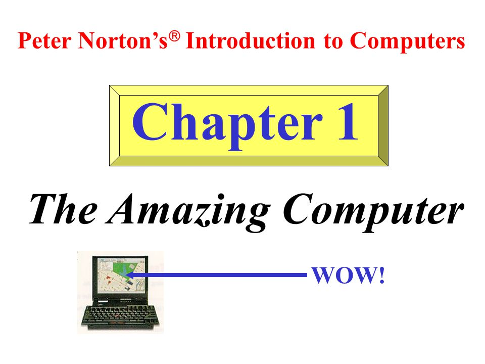 Chapter 1 The Amazing Computer