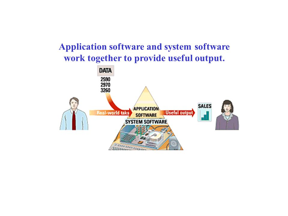 Application software and system software