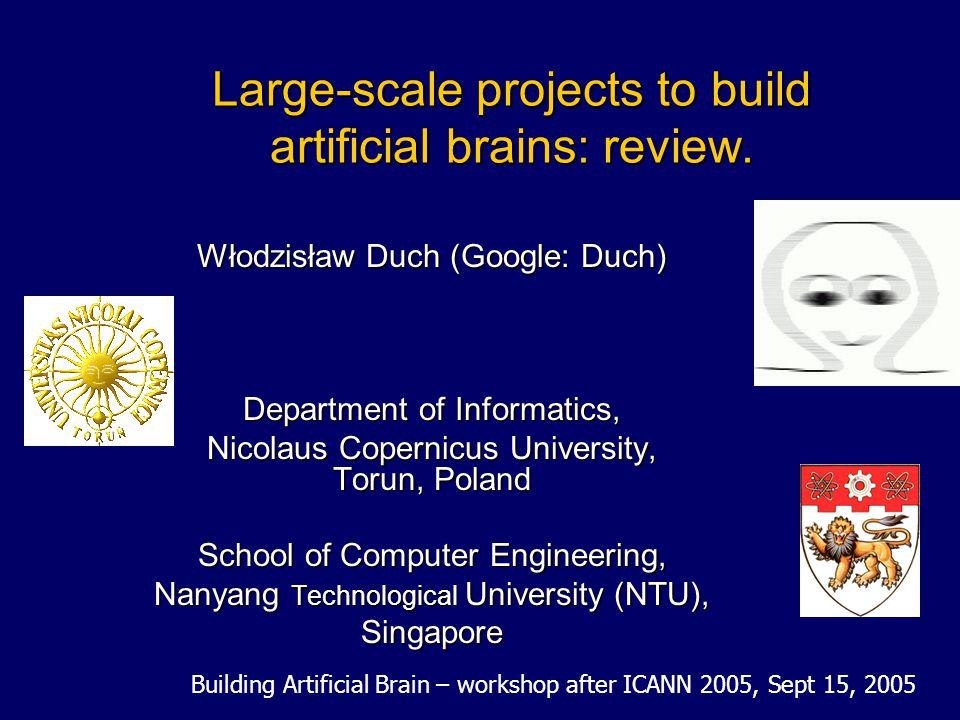 Large-scale projects to build artificial brains: review.