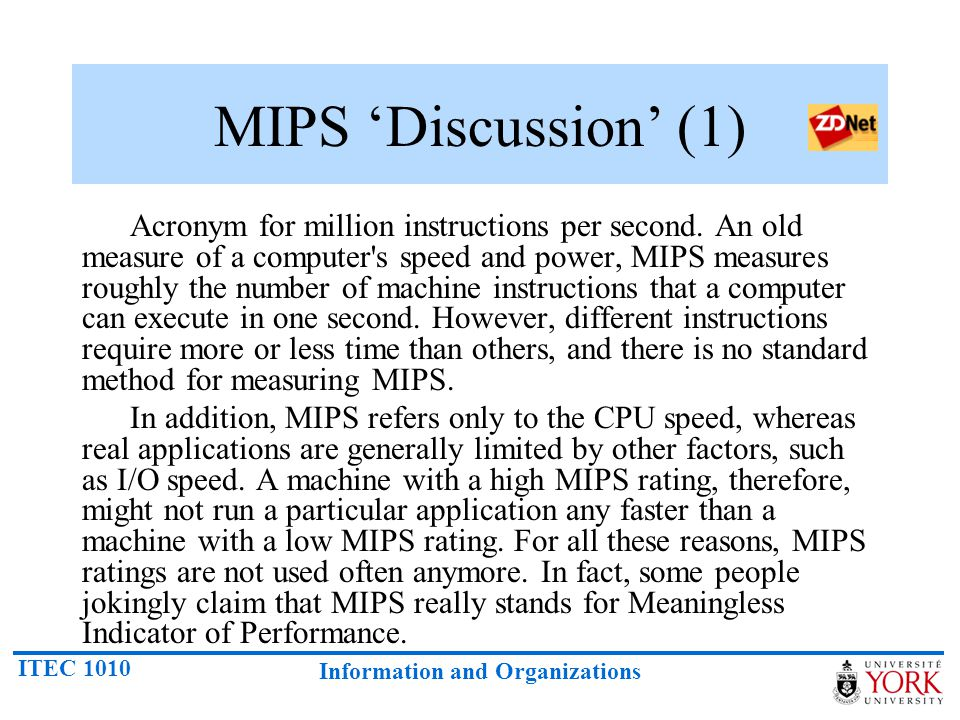 MIPS 'Discussion' (1)