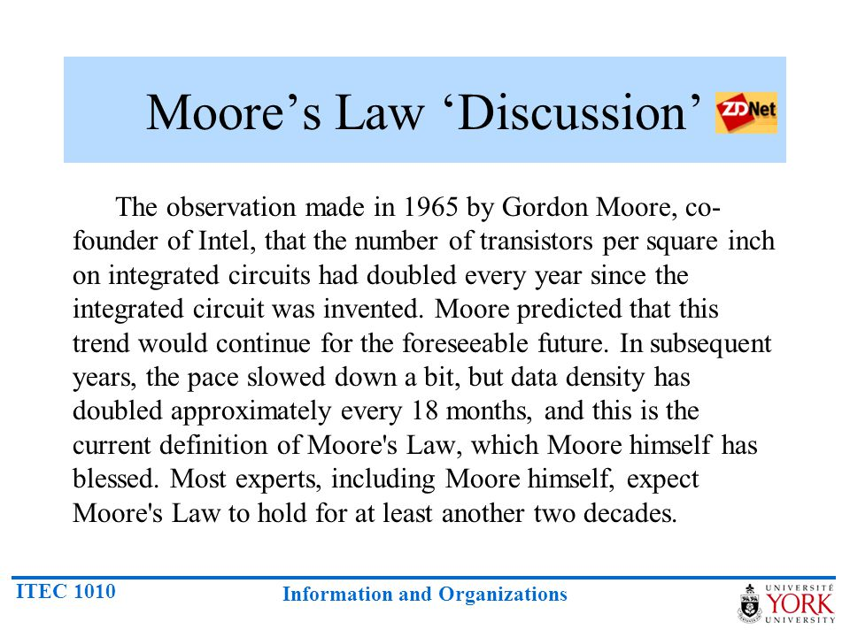 Moore's Law 'Discussion'